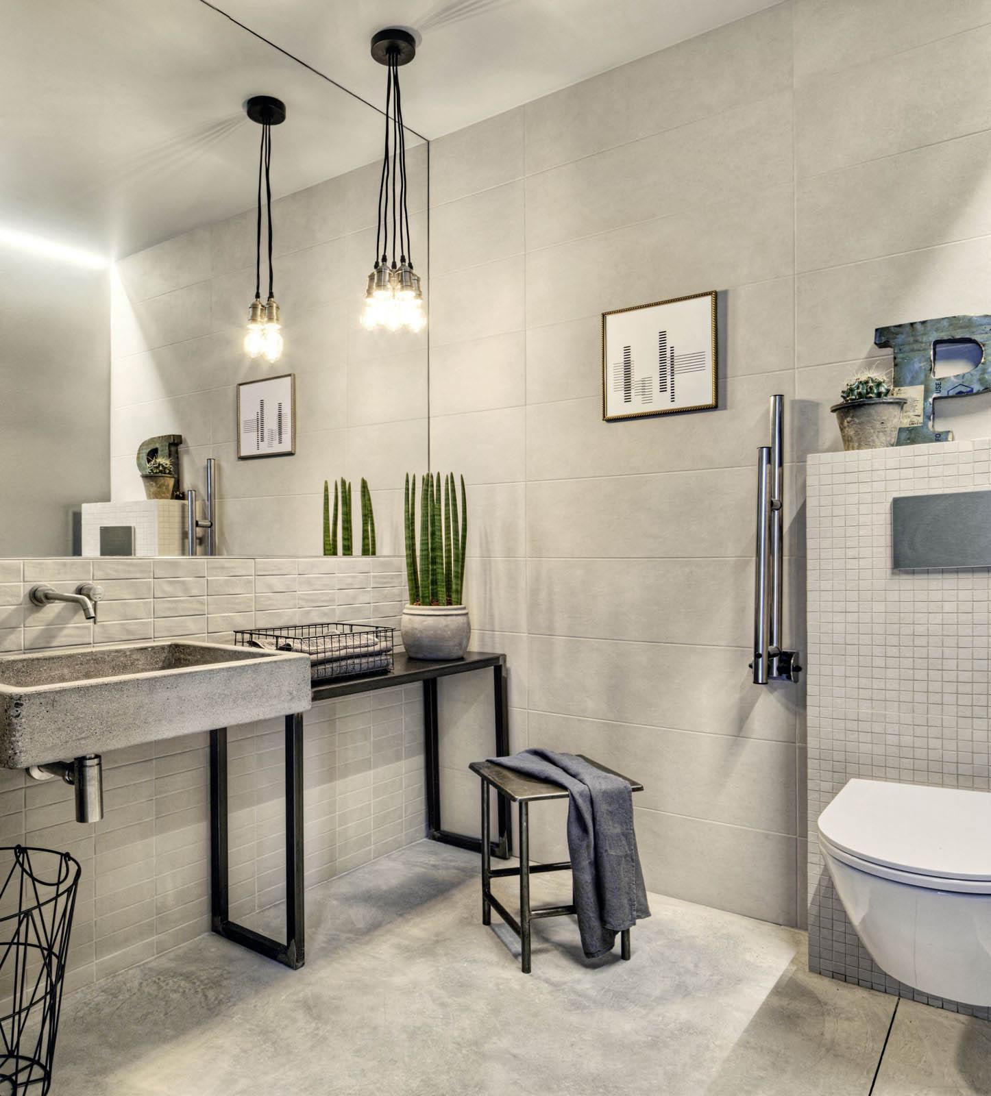 Elegant Chalk   Betonoptik Cottooptik   Badezimmer