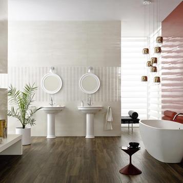 Fliesen: Rot Badezimmer   Marazzi