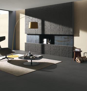 fliesen: schwarz wohnzimmer | marazzi