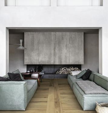 Fliesen Holzoptik Wohnzimmer