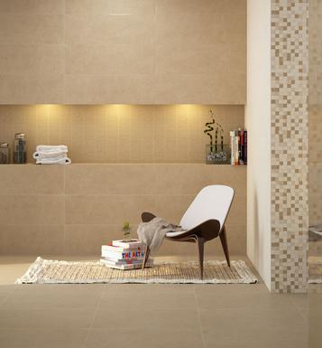 Fliesen: Beige Badezimmer | Marazzi | {Badezimmer fliesen beige 70}