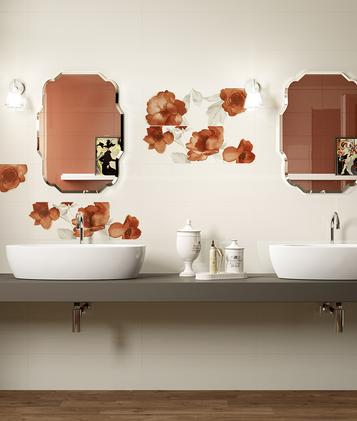 Fliesen orange badezimmer marazzi - Orange fliesen ...