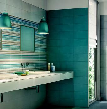 Bagni colorati verdi design casa creativa e mobili - Piastrelle cucina rosse ...
