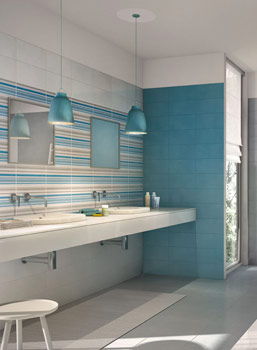 Proposals for coverings Marazzi bathroom