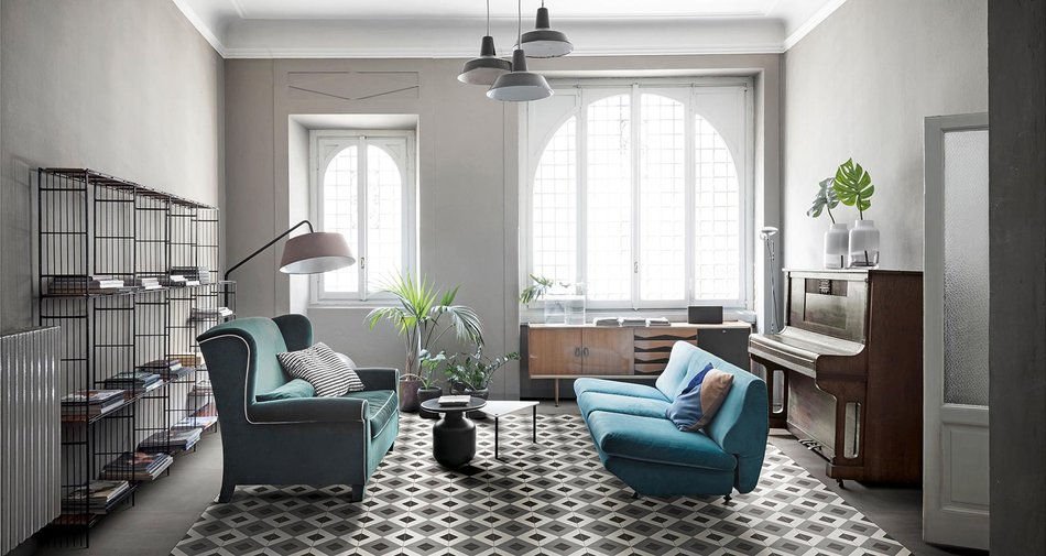 zementfliesen d segni kleine formate gro e ausstrahlung marazzi. Black Bedroom Furniture Sets. Home Design Ideas