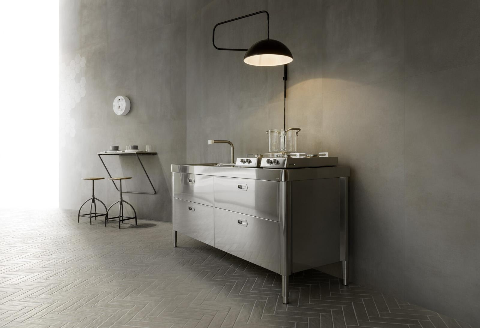 die perfekten wandfliesen f r die k che im industrial style marazzi. Black Bedroom Furniture Sets. Home Design Ideas