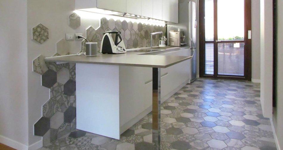 Zementfliesen Look Für Die Küche