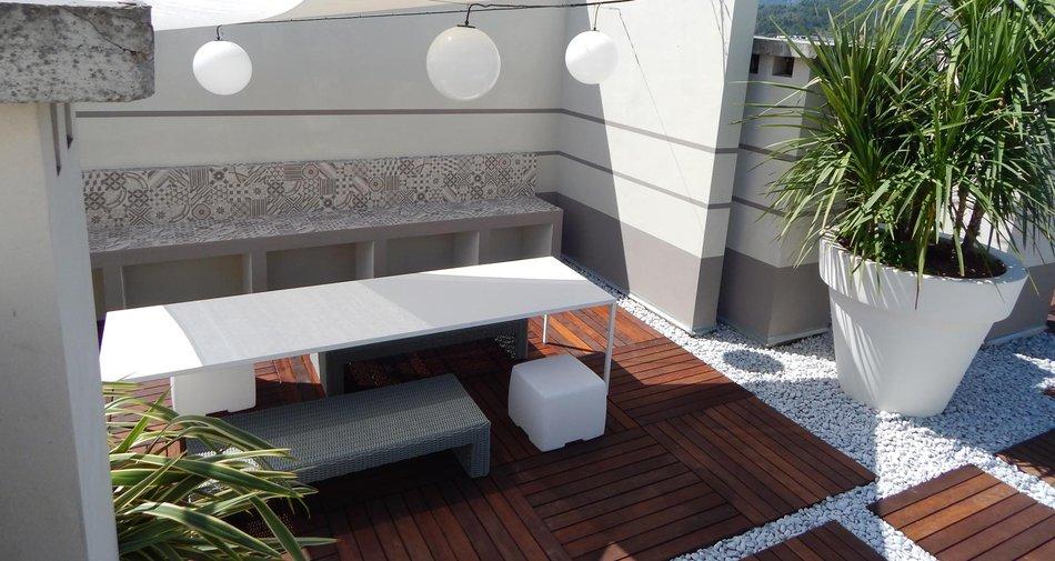 Open Air mit Block, Steinzeug in Zementoptik | Marazzi