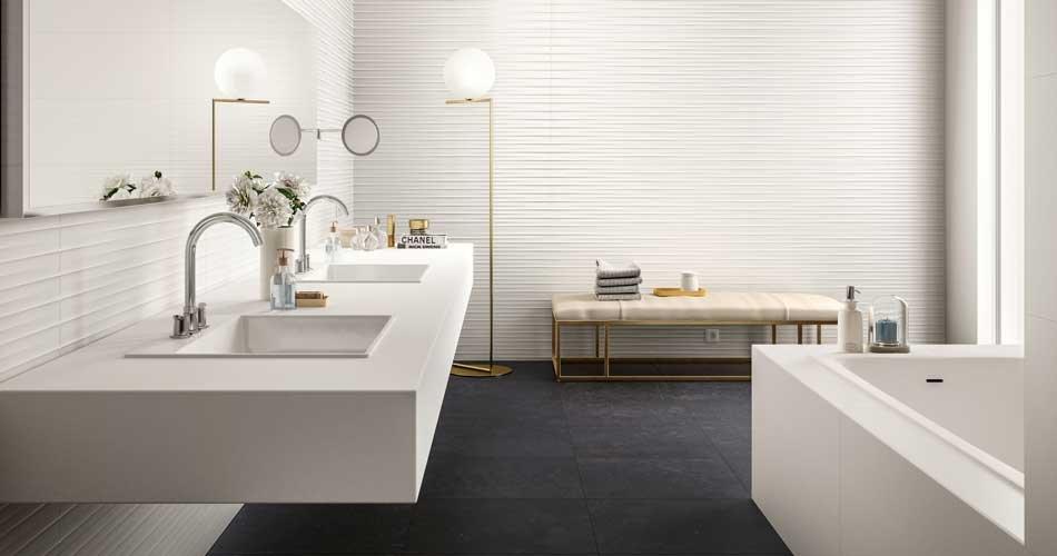 Essenziale, strahlend weiße Badverkleidung | Marazzi
