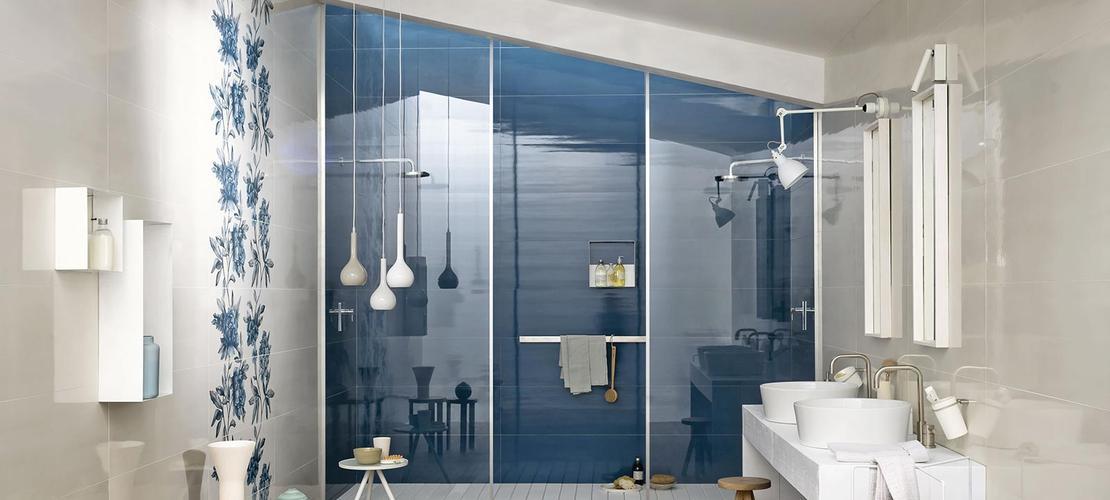 Fliesen in der farbe blau unsere kollektionen marazzi - Piastrelle bagno colorate ...