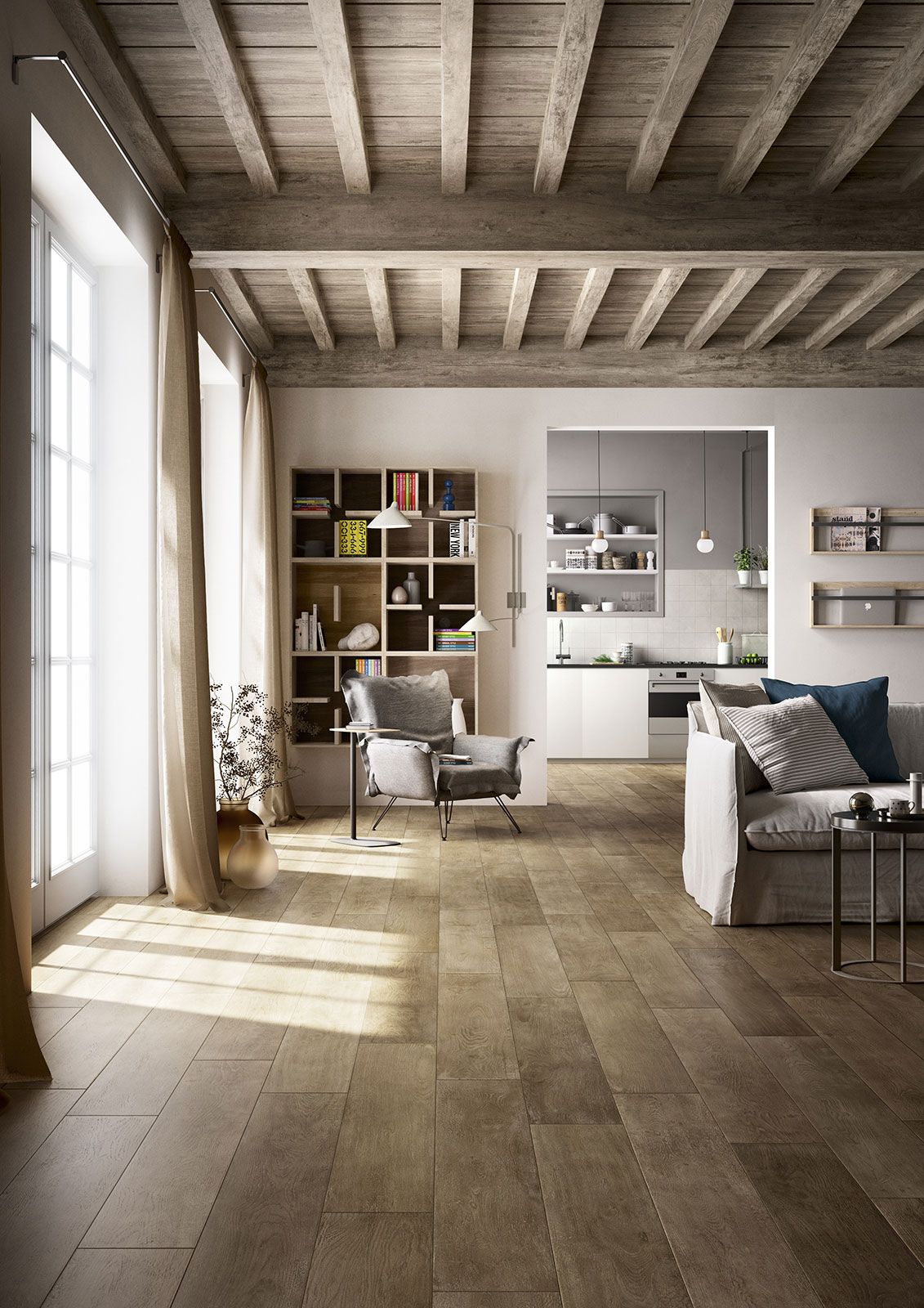 treverktime steinzeug in holzoptik marazzi. Black Bedroom Furniture Sets. Home Design Ideas