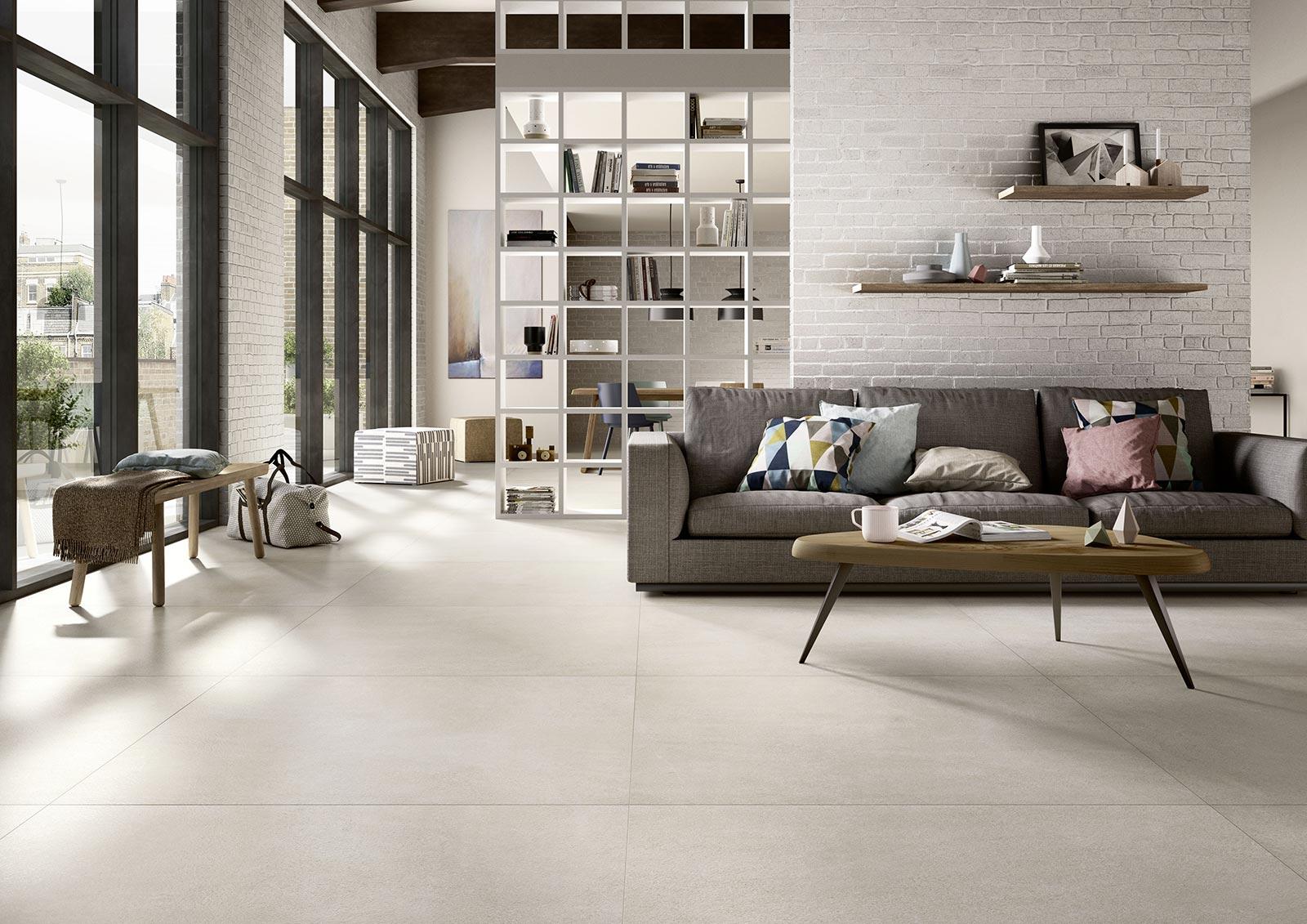Fliesen Fr Das Wohnzimmer Gestaltungideen Mit Keramik Und Feinsteinzeug Marazzi 6347