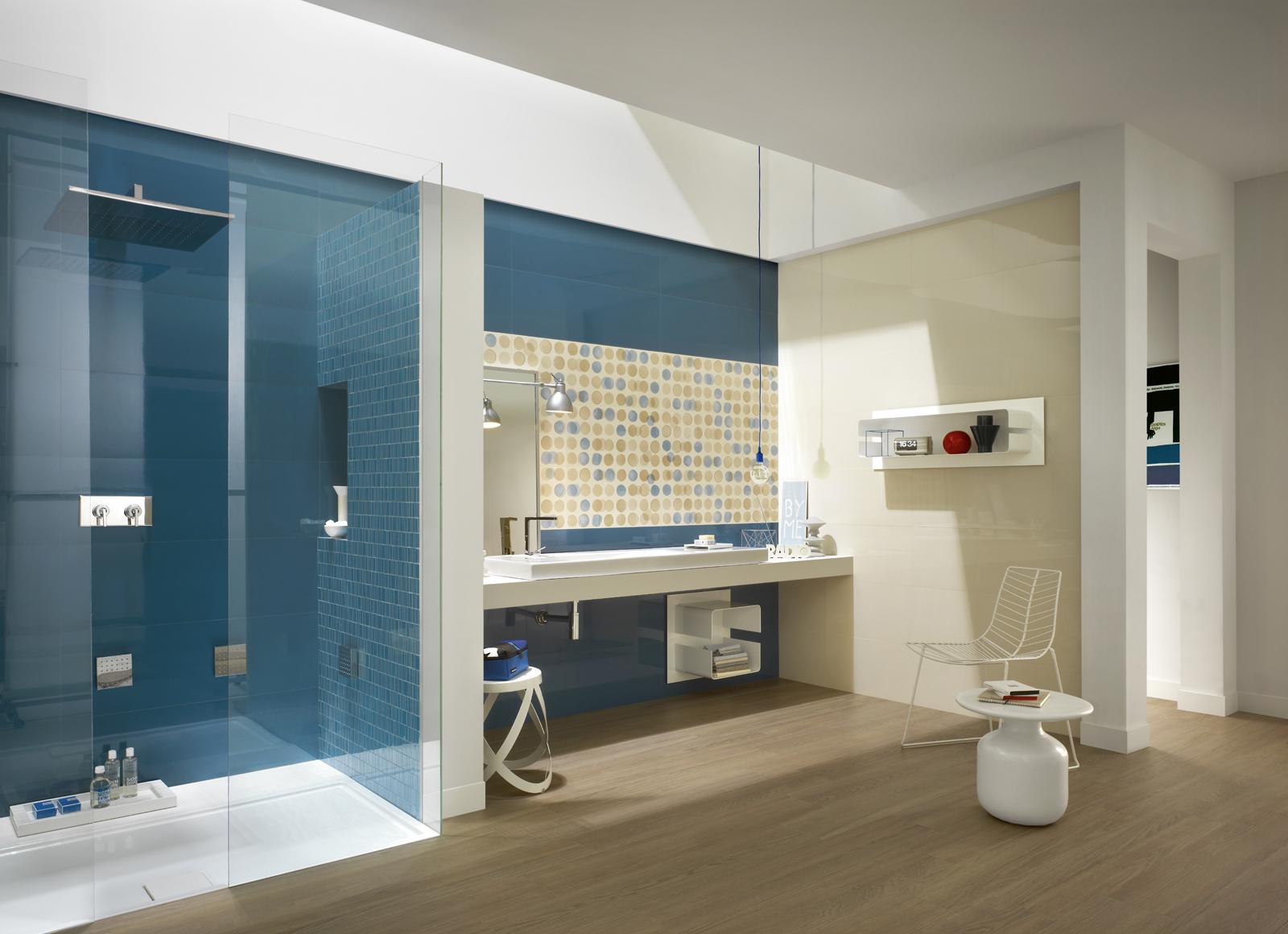 Badezimmer blau beige – midir