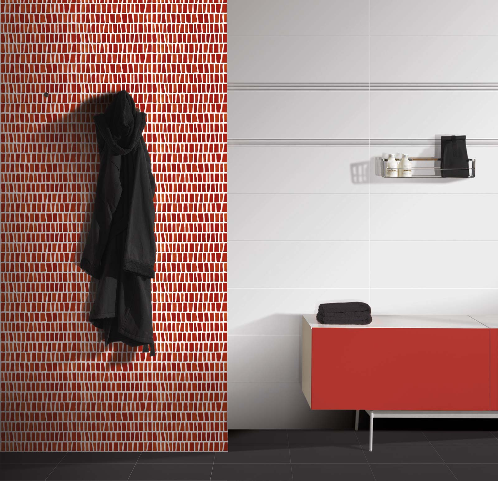 rote fliesen marazzi. Black Bedroom Furniture Sets. Home Design Ideas