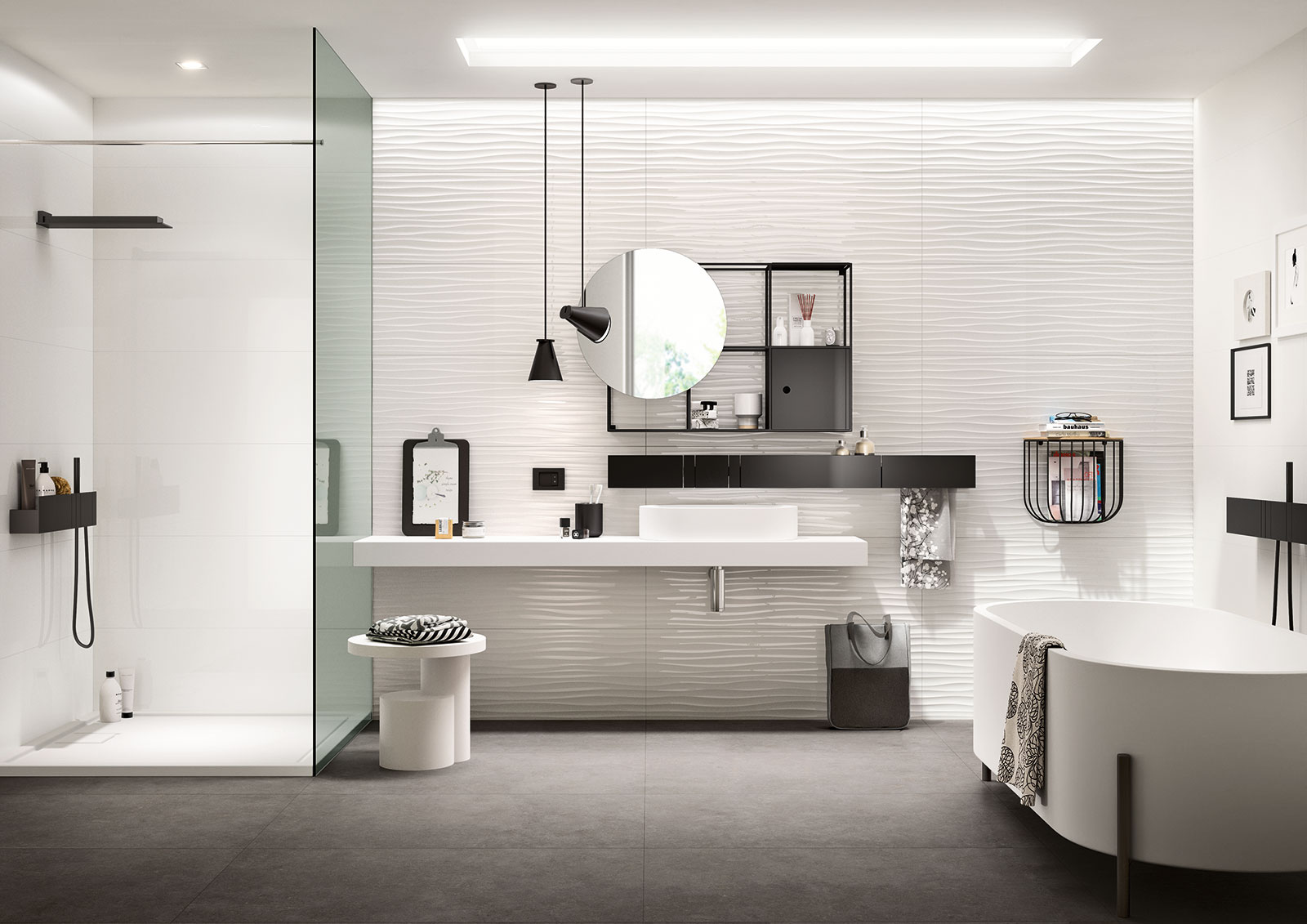 Bad Fliesen-gestaltungsideen : Marazzi Porcelain Tile in Bathrooms