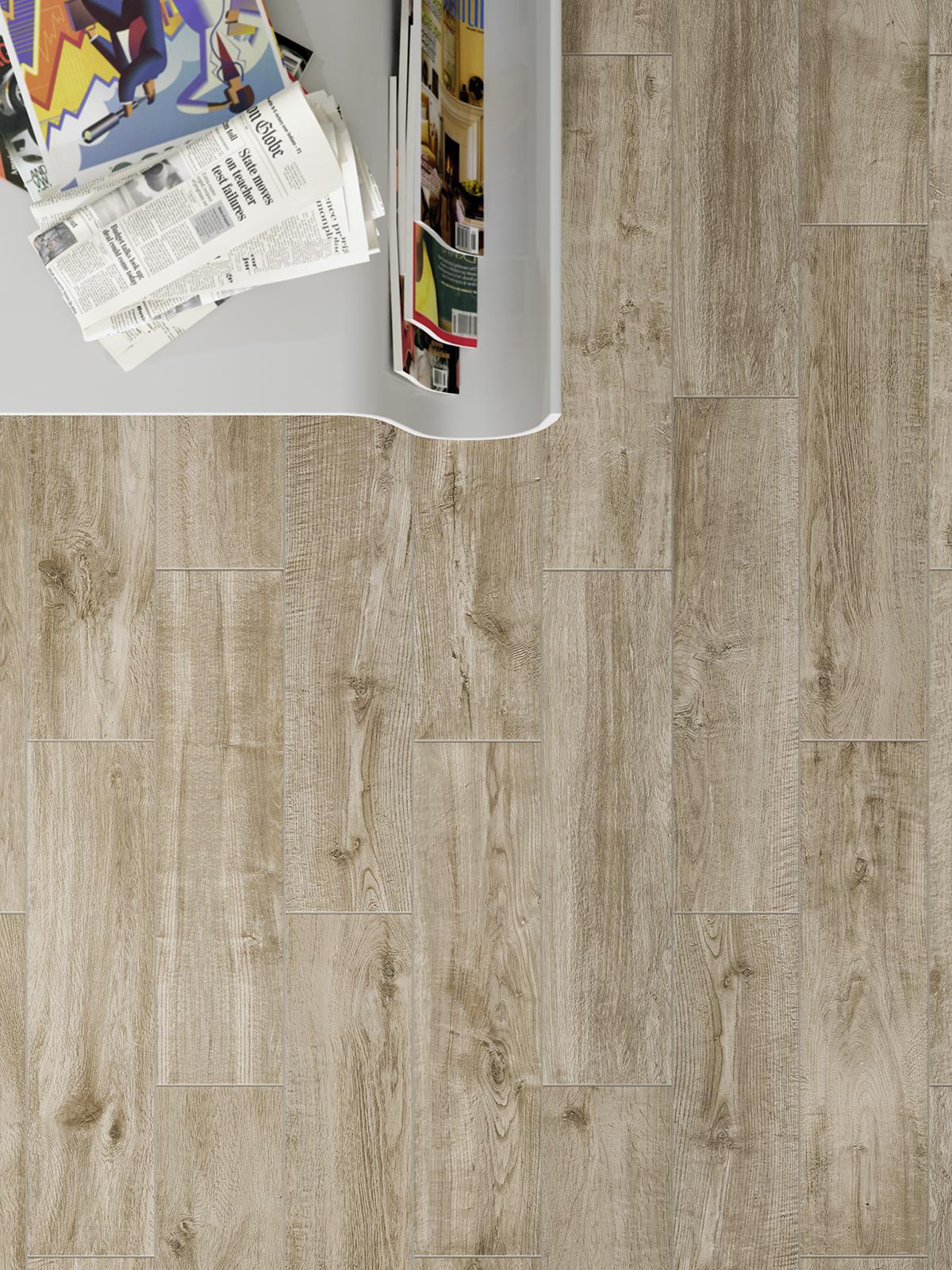 Wohnzimmer und Kamin badezimmer grün weiß : Fliesen in Holzoptik : Marazzi