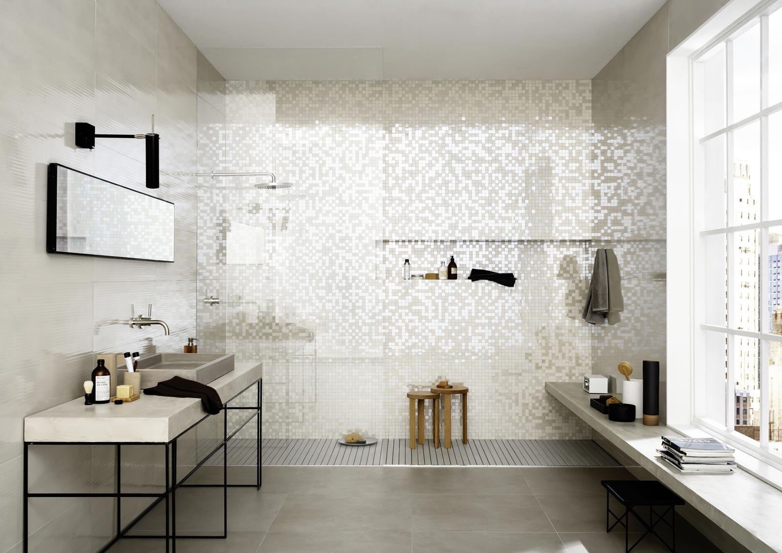 Mosaik Fliesen Dusche Pflege : Marazzi Porcelain Tile Shower