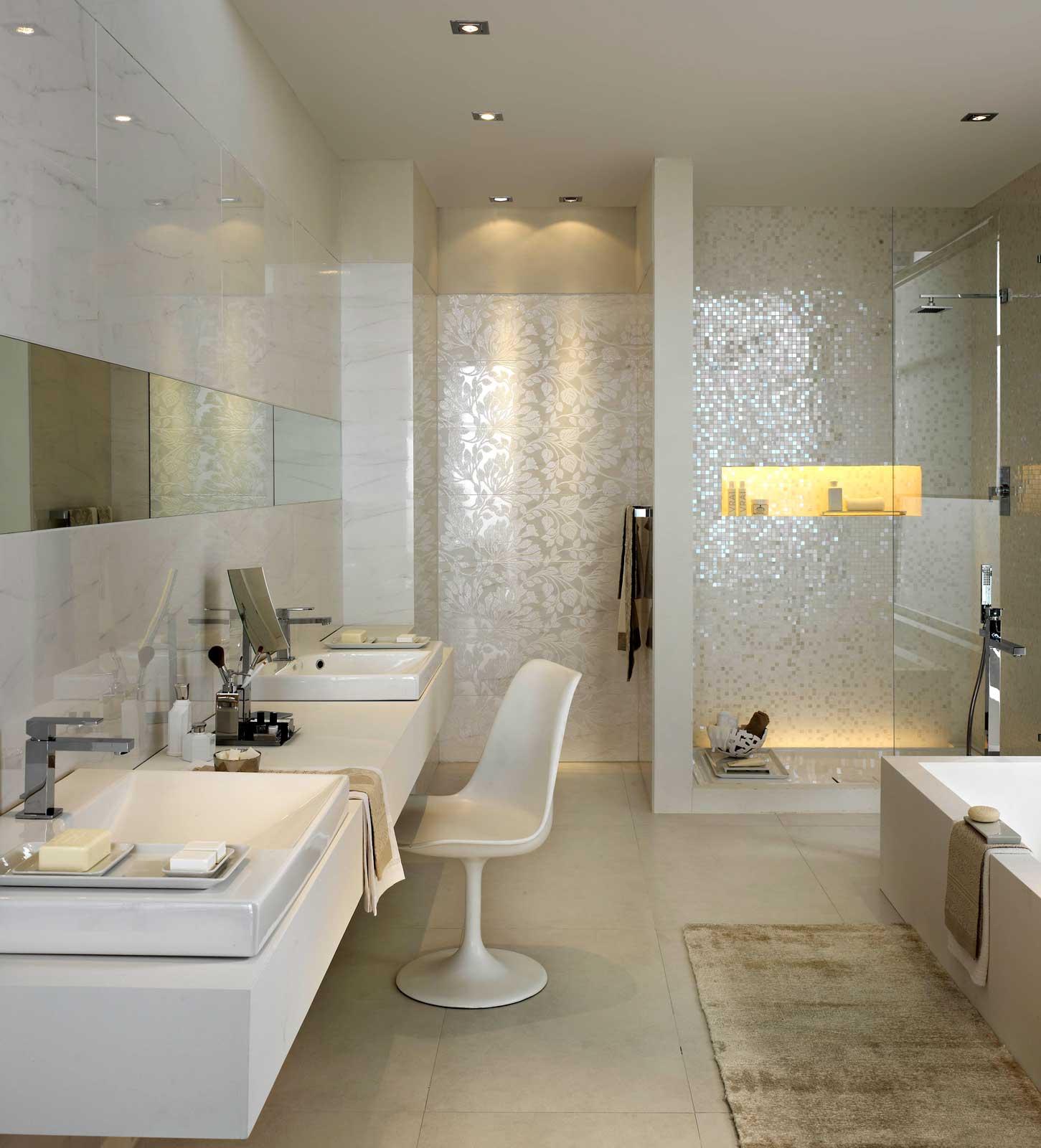 stonevision keramik mit gl nzender oberfl che marazzi. Black Bedroom Furniture Sets. Home Design Ideas