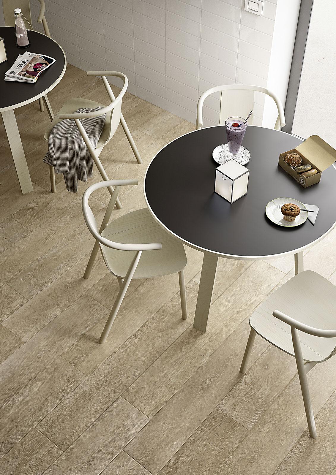 Marazzi Tile Wood Look Gray in Brown and Cream Tones