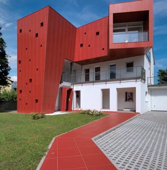 Hinterlüftete Fassaden Villa Nesi TO